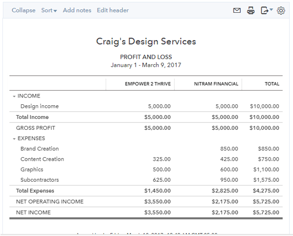 running reports in quickbooks online